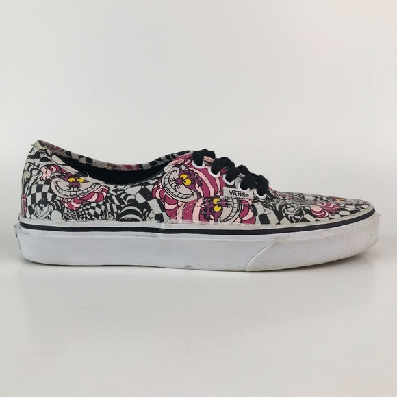 Details zu Disney X Vans Alice in Wonderland Cheshire Cat Skate Sneakers Men's 13 Shoes EUC